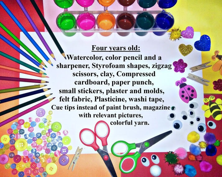 Creative materials for four years old