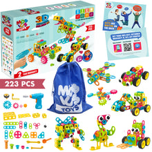 Load image into Gallery viewer, STEM Toys KIT 223 PCS with Drill