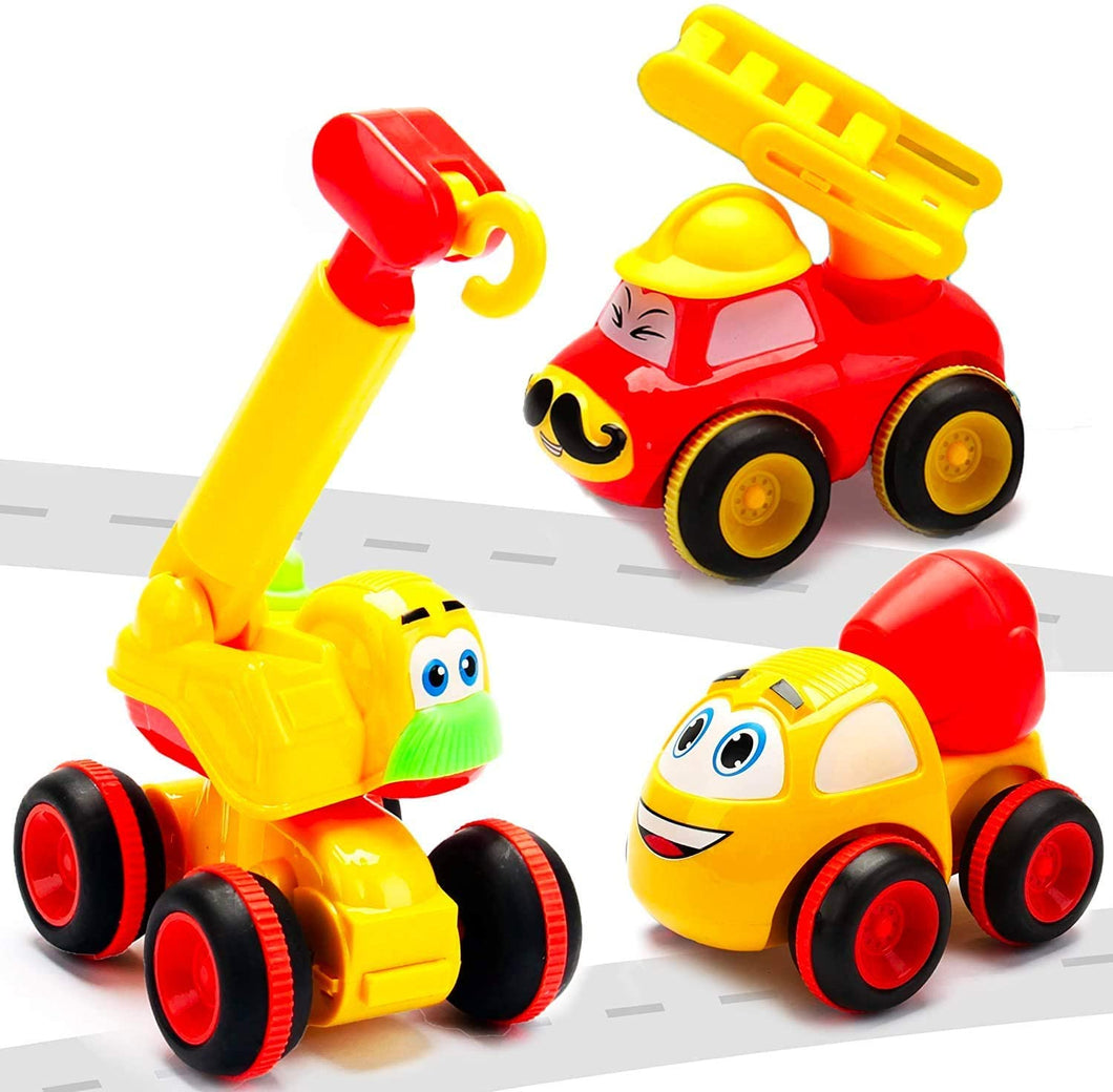 3 Friction Powered Trucks for 2+ Year Old Boys