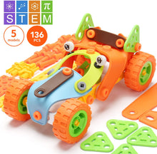 Load image into Gallery viewer, 136 PCS STEM Learning Toys - Educational Engineering and DIY STEM Construction Kit