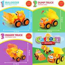 Load image into Gallery viewer, 3 Friction Powered Trucks for 2+ Year Old Boys