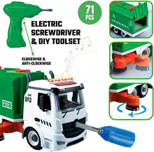 Load image into Gallery viewer, 71 PCS Take Apart Garbage Truck Playset