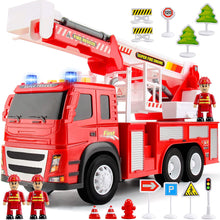 Load image into Gallery viewer, Fire Truck Friction Powered 1:12 Scale