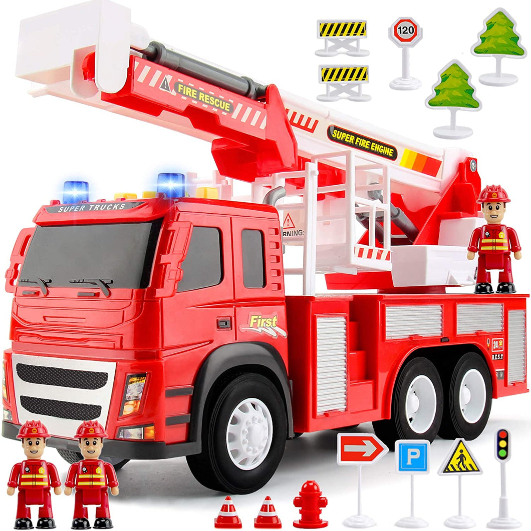 Fire Truck Friction Powered 1:12 Scale