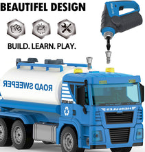 Load image into Gallery viewer, Tank Car Construction Playset - 110 Pcs STEM Toys Take Apart Toy with Drill Tool
