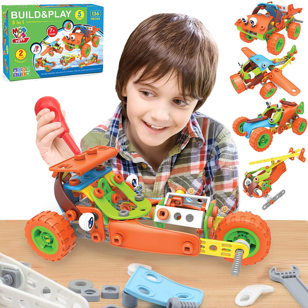 136 PCS STEM Learning Toys - Educational Engineering and DIY STEM Construction Kit