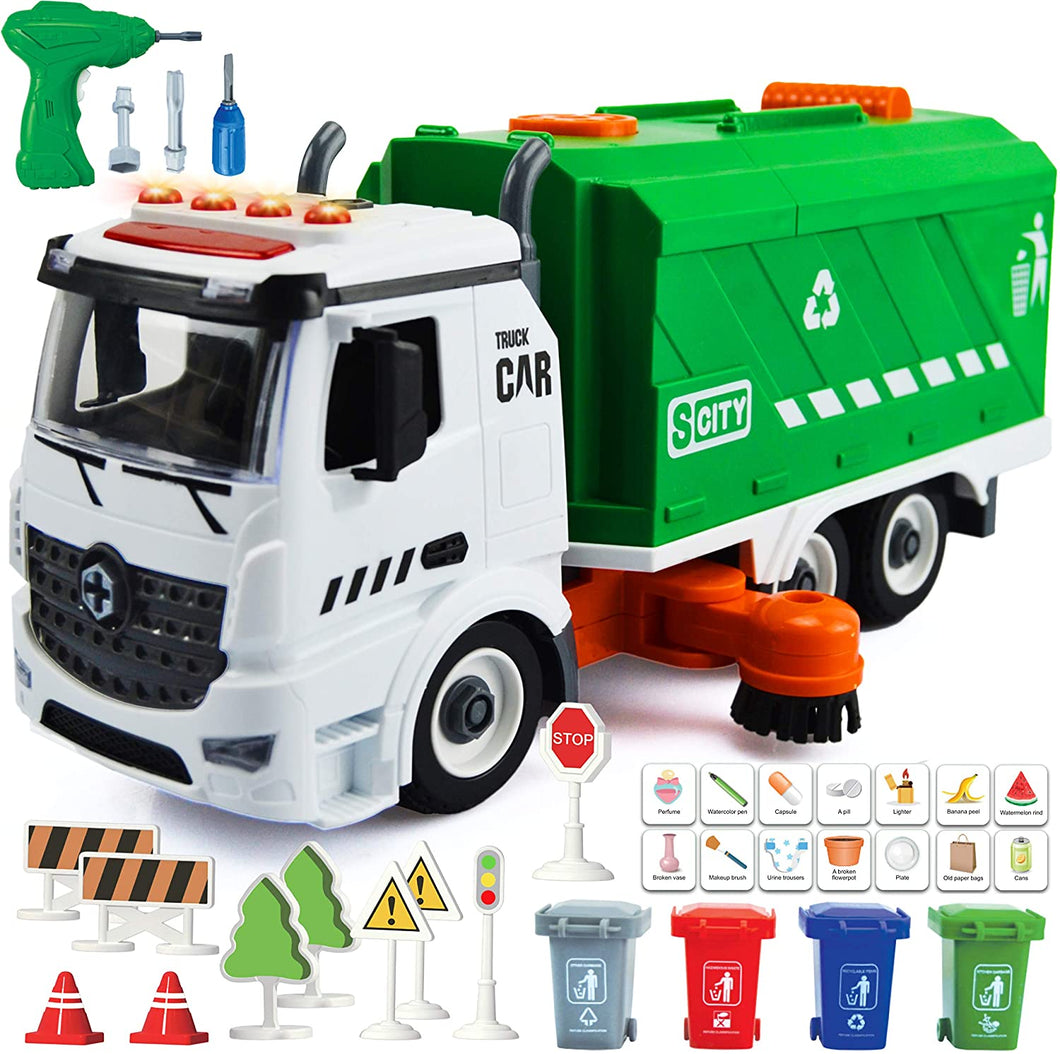 71 PCS Take Apart Garbage Truck Playset