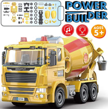 Load image into Gallery viewer, Cement Truck - 99 Pcs Take Apart STEM Toys Build Your Own Construction Truck