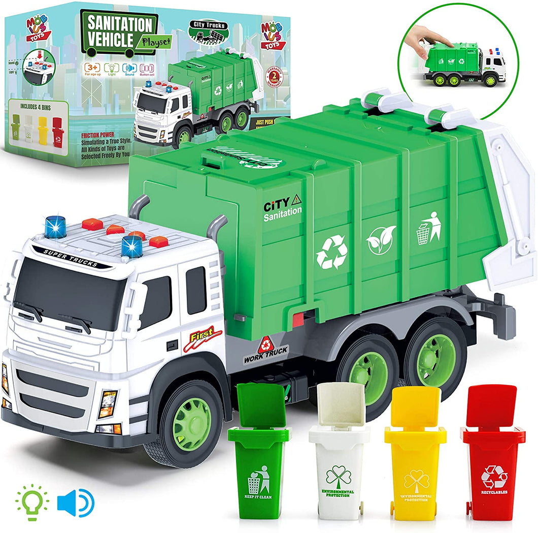 Garbage Truck Friction-Powered 1:12 Scale