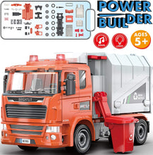 Load image into Gallery viewer, Recycling Truck -109 Pcs Take Apart STEM Toys Build Your Own Garbage Sanitation Truck