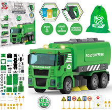 Load image into Gallery viewer, Road Sweeper Truck - 130 Pcs STEM Toys Take Apart Toy with Drill Tool