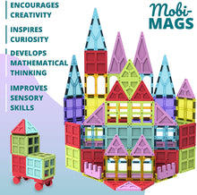 Load image into Gallery viewer, Mobi-Mags Magnetic Building Tiles for Kids - 100 Pieces STEM Toy Set