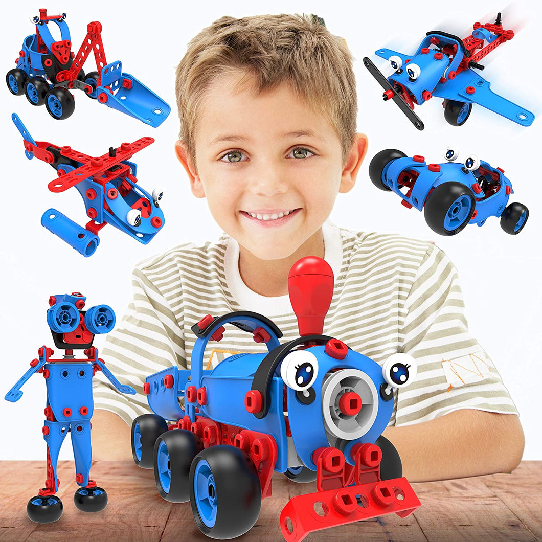 6 in 1 Kids Building Toy Set, Educational DIY Learning Construction Kit for Boys & Girls