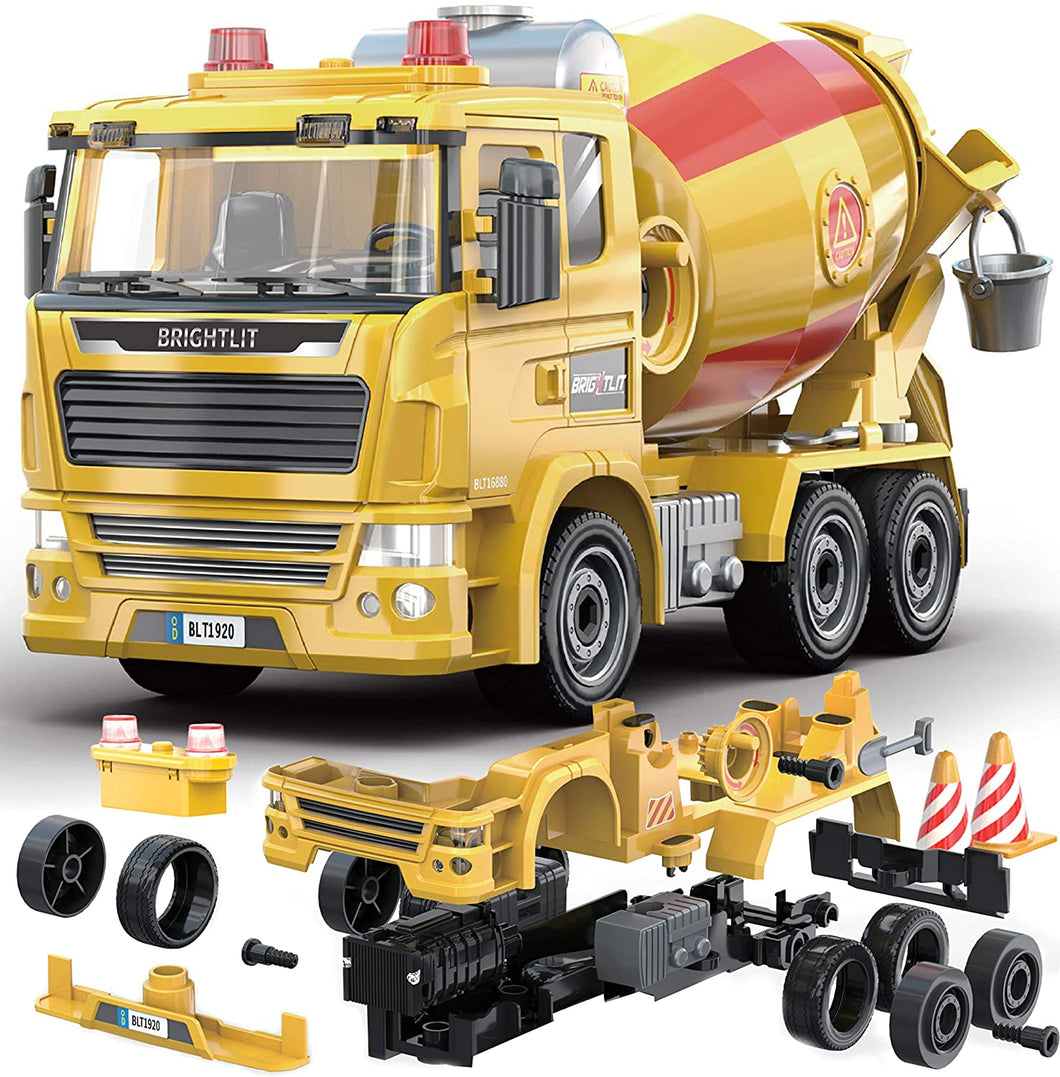 Cement Truck - 99 Pcs Take Apart STEM Toys Build Your Own Construction Truck
