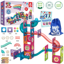 Load image into Gallery viewer, Magnetic Marble Run Building Set - 87 Piece