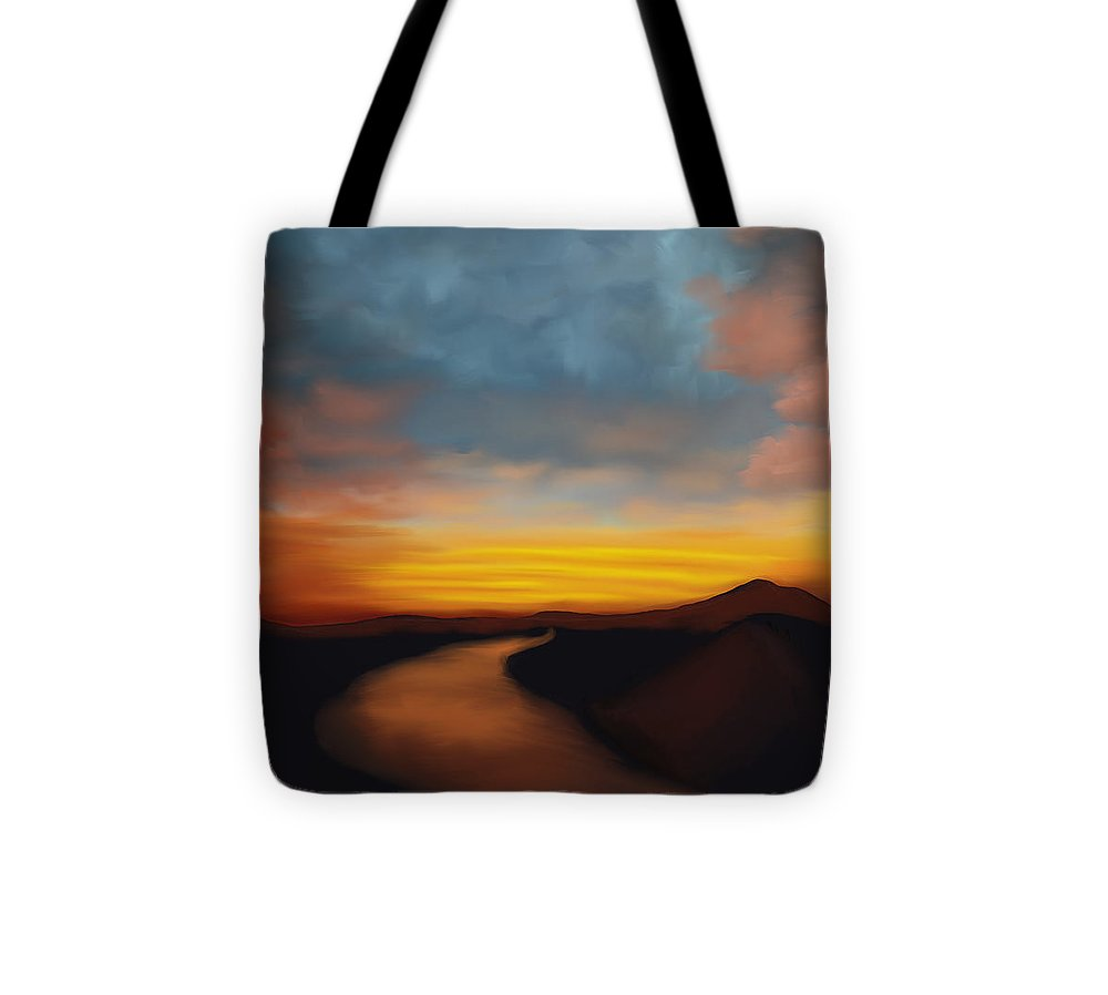 River st Sunset - Tote Bag