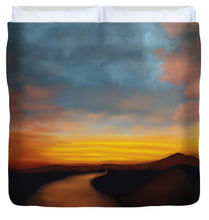 Load image into Gallery viewer, River st Sunset - Duvet Cover