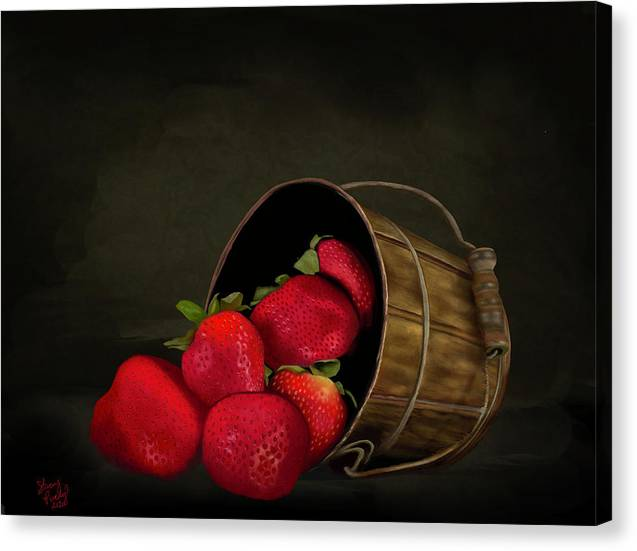 Still Life Strawberries - Canvas Print
