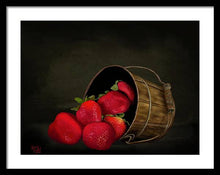 Load image into Gallery viewer, Still Life Strawberries - Framed Print