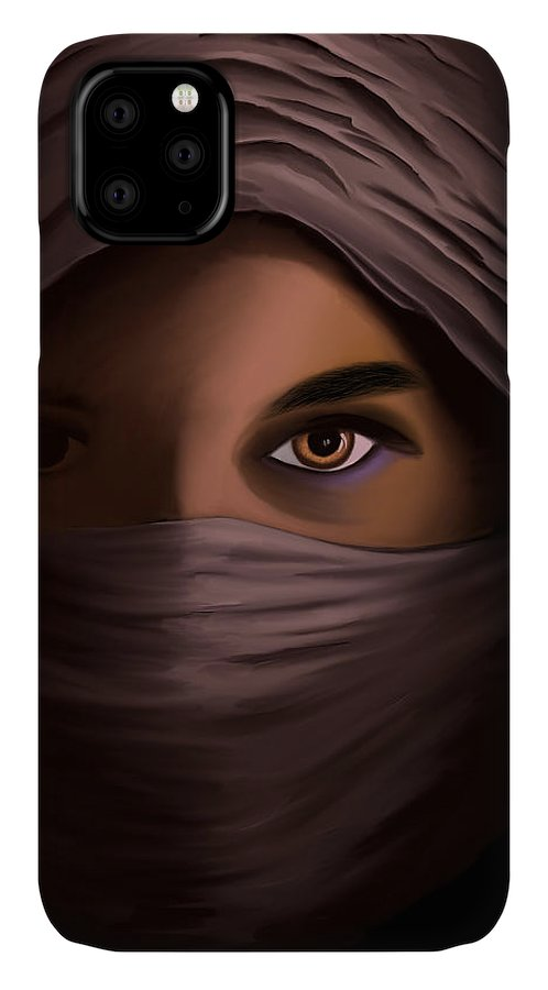 Woman in Shadow - Phone Case