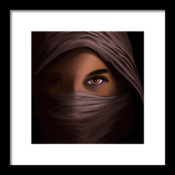 Woman in Shadow - Framed Print