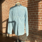 Denim Long-sleeve Shirt - Light Blue Men's