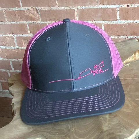 Trucker Hat - Pink/Grey