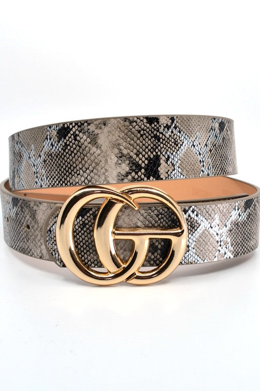 Faux Snake Leather Belt - SURELYMINE