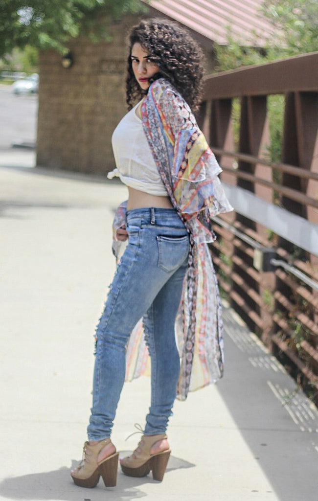 Ripped and Distressed It Up Skinny Jeans - SURELYMINE