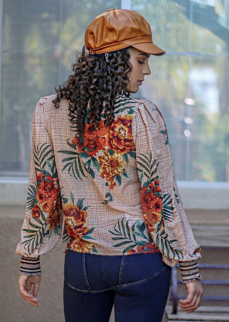 Lush Tropical Floral Top