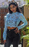 Lacy Lu Lace Long Sleeve Crop Top - SURELYMINE