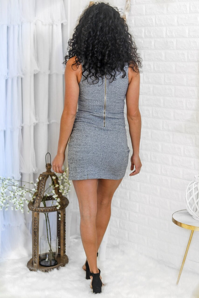 Cross My Heart Ribbed Mini Dress