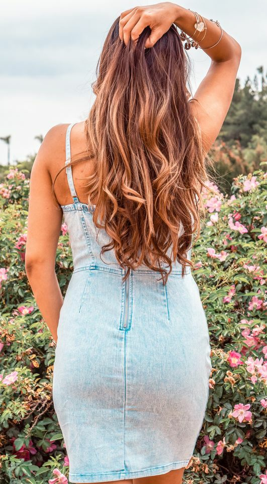 Denim on the Daily Denim Bodycon fit Dress Light Wash