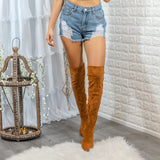 Set The Bar Pointed Toe Knee High Boots - SURELYMINE