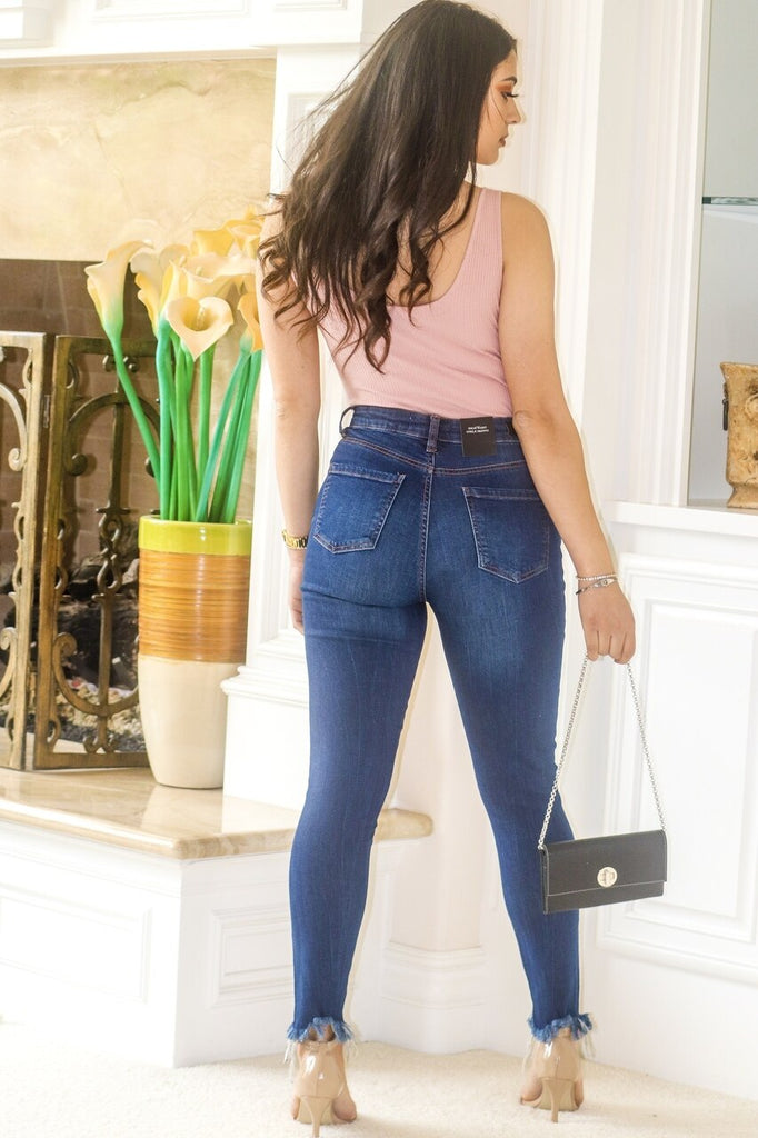 Just a Little Bite Distressed Ripped Knee Jeans - SURELYMINE