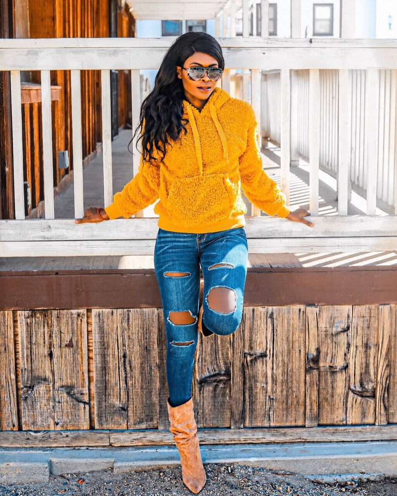 Sunshine Hooded Sherpa Sweater - SURELYMINE