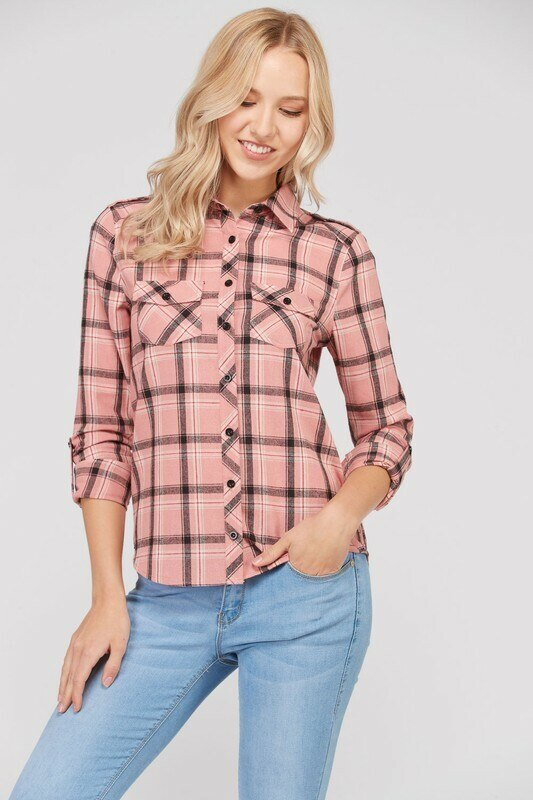 Plaid Flannel Long Sleeve Button shirts - SURELYMINE