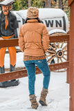 Winter Wish Puffer Jacket Brown - SURELYMINE