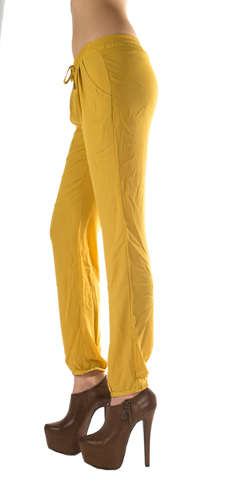 Mustard Fashion Skinny Slacks - SURELYMINE