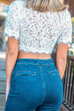 Cropped Detail Vines White Top