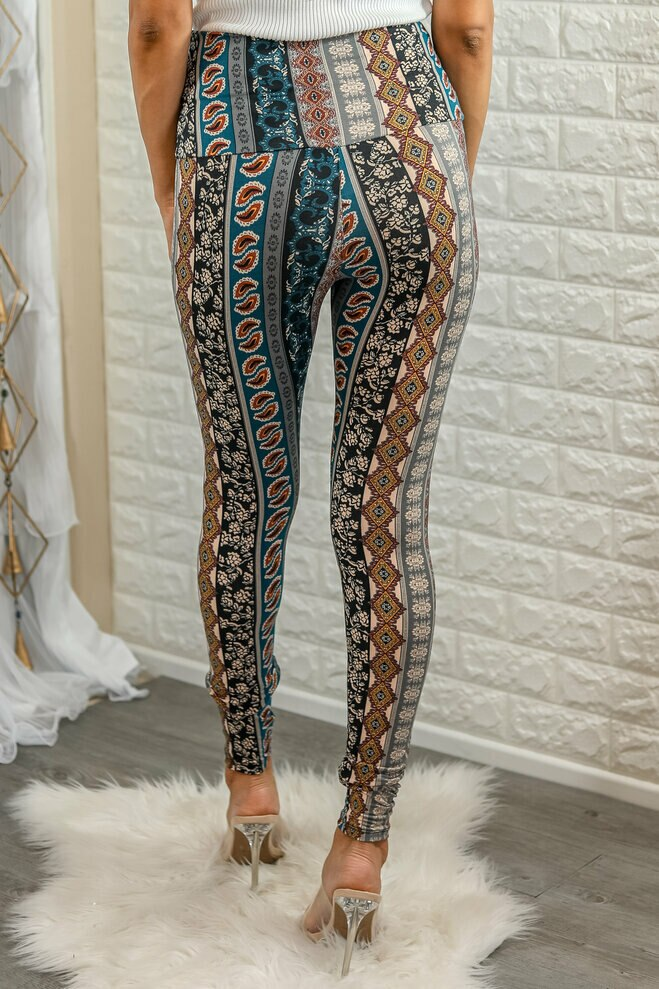 Brea Fitted High Waisted Printed Knit  Legging - SURELYMINE