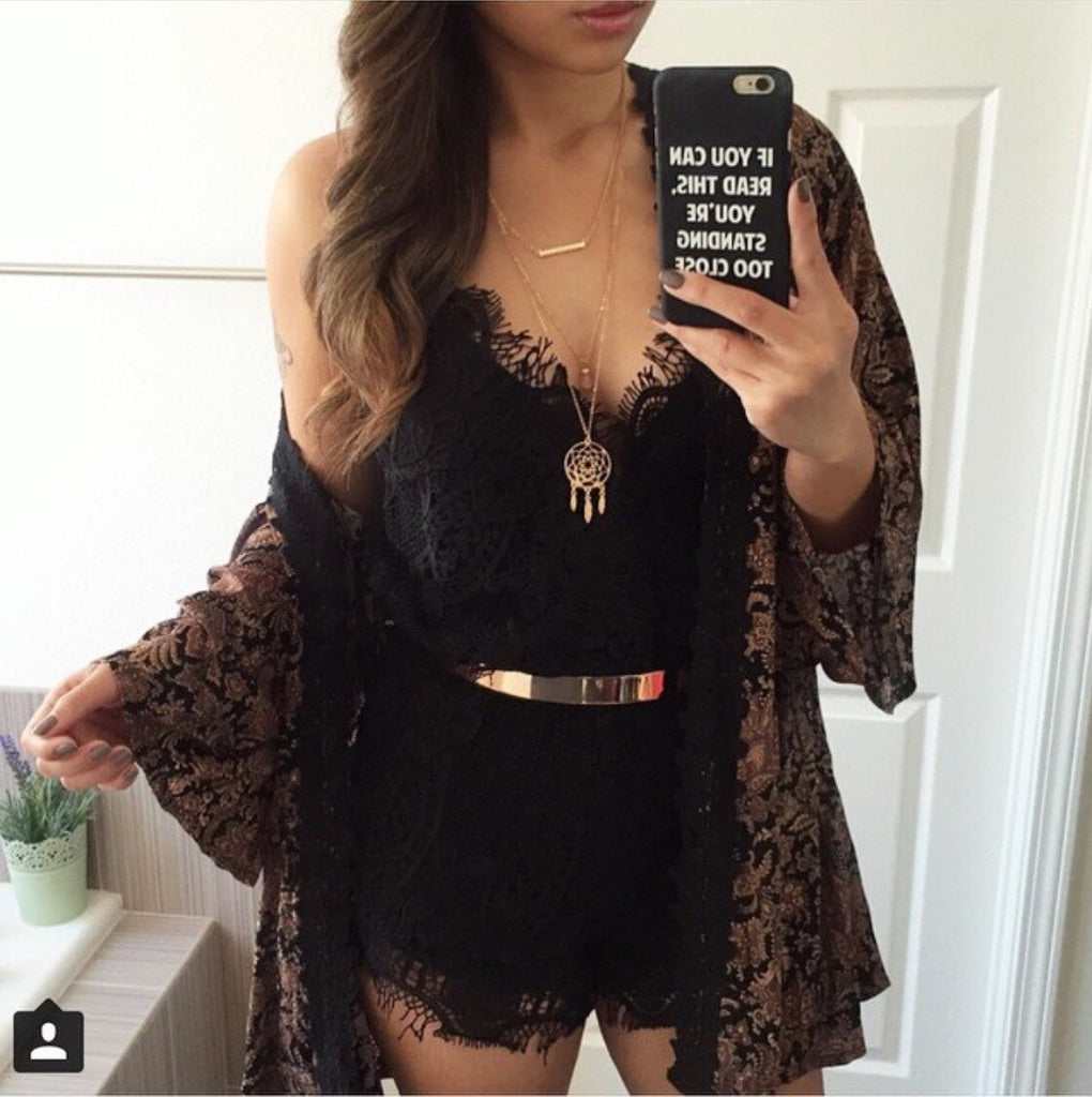 Bellavie Lace Romper Romper