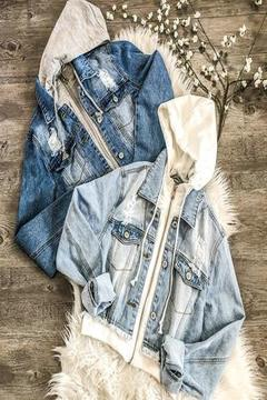 Not Your Basic Distressed Denim Jacket Dark - SURELYMINE
