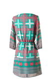 Beautiful Print Belted Shift Dress