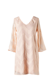 Soft Pattern Peach Shift Dress