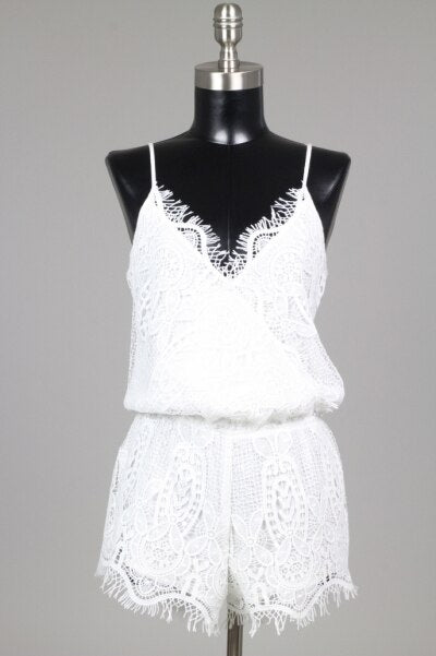Bellavie White Lace Romper