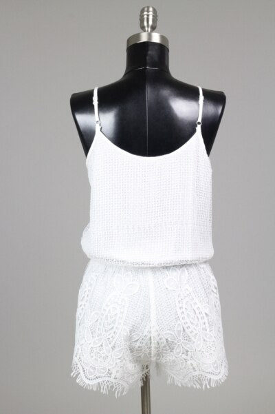 Bellavie White Lace Romper - SURELYMINE