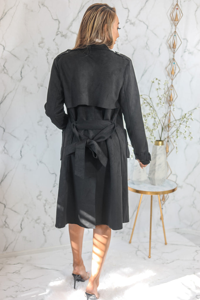 New York New York Trench Coat Black - SURELYMINE