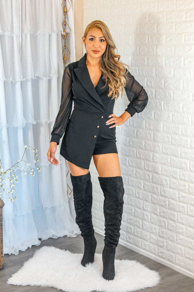 Unmatchable Pointy Slouchy Knee and Thigh High Boots Black - SURELYMINE