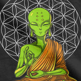 Zen Yoga Meditation Alien Spiritual T Shirt